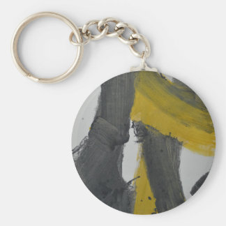Yellow And Black Abstract 2 Key Chains