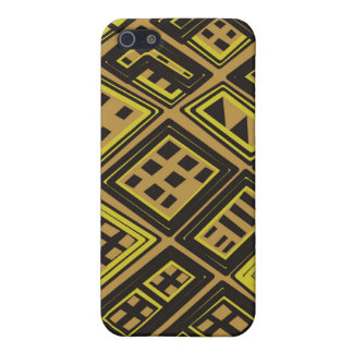 Yellow and black - Abstract African art iPhone SE/5/5s Cover