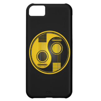 Yellow and Black Acoustic Guitars Yin Yang iPhone 5C Case