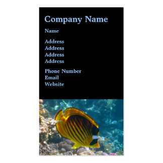 Yellow and Black Angel Fish Business Card