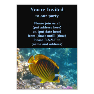 Yellow and Black Angel Fish Invitations
