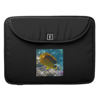 Yellow and Black Angel Fish MacBook Pro Sleeve