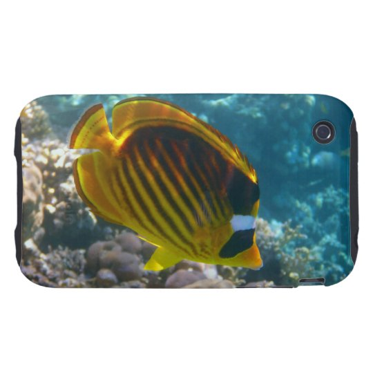 Yellow and Black Angel Fish Tough iPhone 3 Case