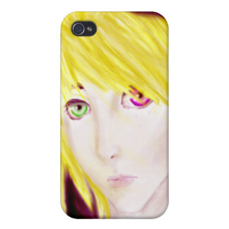 Yellow and Black Anime Boy Skater iPhone 4/4S Cover