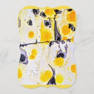 Yellow and black Artistic Gift tag