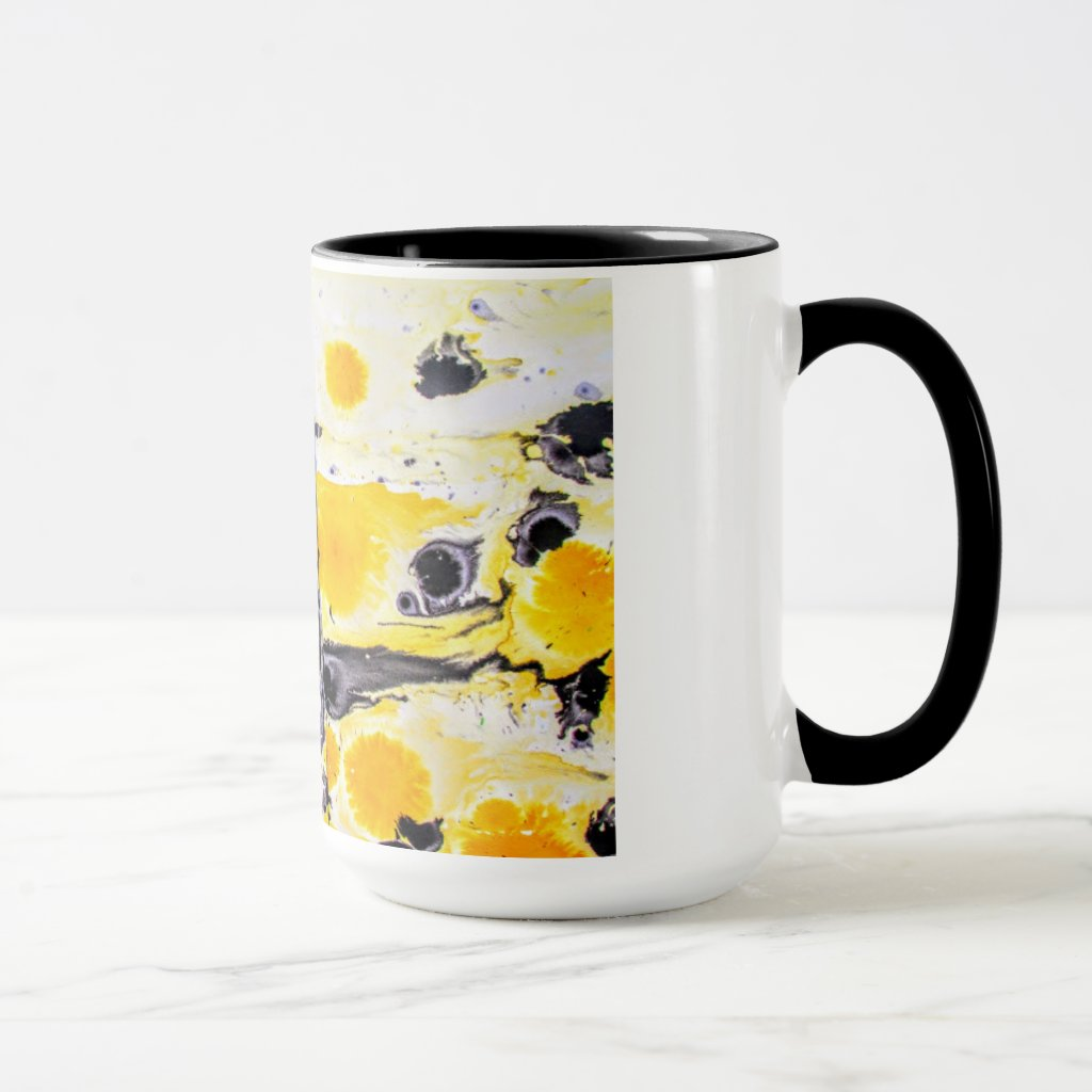 Yellow and black Artistic mug