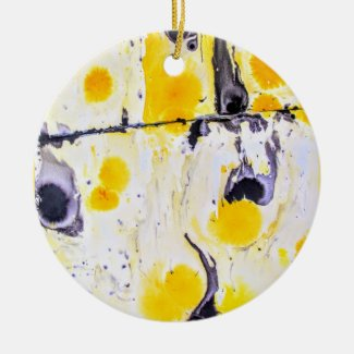 Yellow and Black Artistic Ornament