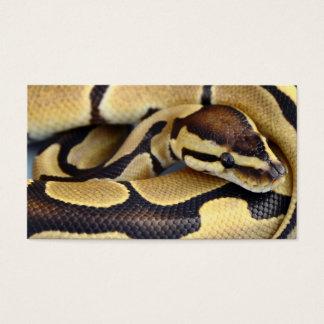 Yellow and Black Ball Python 3 Business Card