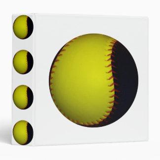 Yellow and Black Baseball / Softball Binder