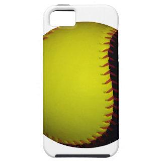 Yellow and Black Baseball / Softball iPhone 5 Case
