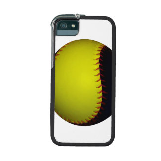 Yellow and Black Baseball / Softball Case For iPhone 5