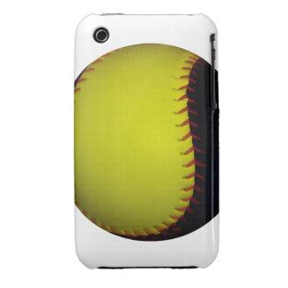 Yellow and Black Baseball / Softball iPhone 3 Cases