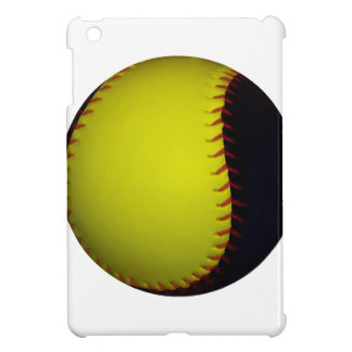 Yellow and Black Baseball / Softball iPad Mini Covers