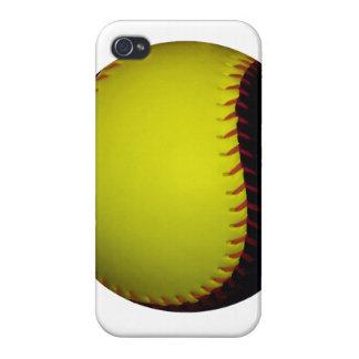 Yellow and Black Baseball / Softball iPhone 4 Case