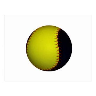 Yellow and Black Baseball / Softball Postcard