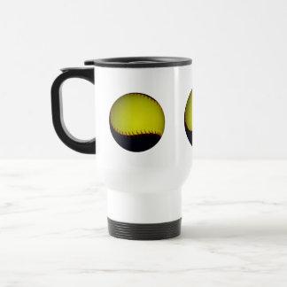 Yellow and Black Baseball / Softball Travel Mug