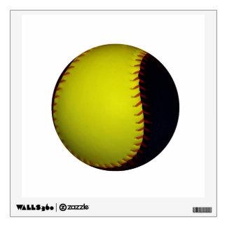 Yellow and Black Baseball / Softball Wall Sticker