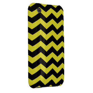 """Yellow and Black """"bee"""" Zig Zag Pattern Case-Mate iPhone 3 Cases"""