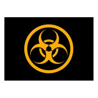 Yellow and Black Bio Hazard Circle Business Card Templates