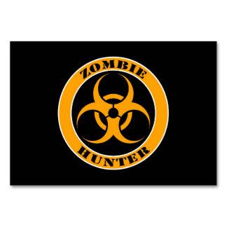 Yellow and Black Bio Hazard Zombie Hunter Card