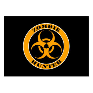 Yellow and Black Bio Hazard Zombie Hunter Large Business Card