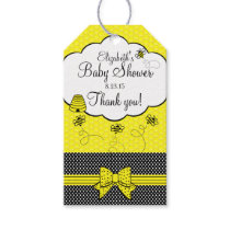 Yellow and Black Bumble Bee Baby Shower Thank You Gift Tags