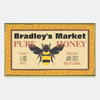 Yellow and Black Bumble Bee Customized Rectangular Sticker