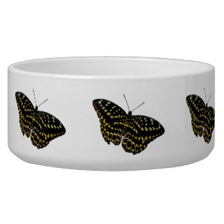 Yellow and Black Butterfly Drawing Photograph Dog Bowl