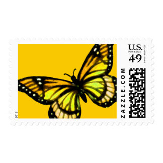 Yellow and Black Butterfly on Any Color Postage