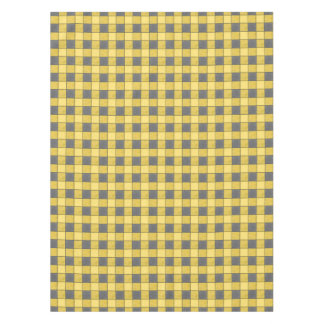 Yellow And Black Check Plaid Tablecloth
