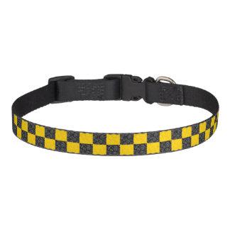 Yellow and Black Checker Pet Collar