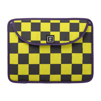 Yellow and Black Checkers Sleeve For MacBooks