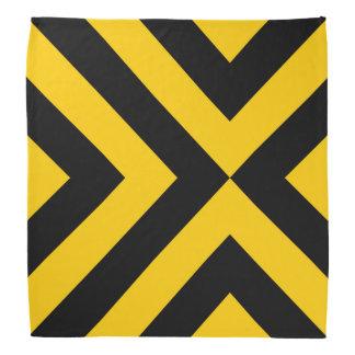 Yellow and Black Chevrons Bandana