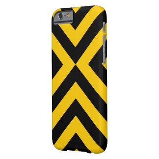 Yellow and Black Chevrons Barely There iPhone 6 Case