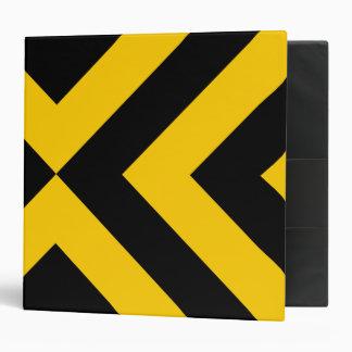 Yellow and Black Chevrons Binder