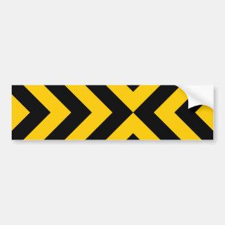 Yellow and Black Chevrons Bumper Sticker