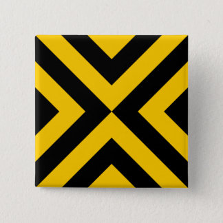 Yellow and Black Chevrons Button