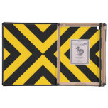 Yellow and Black Chevrons Case For iPad