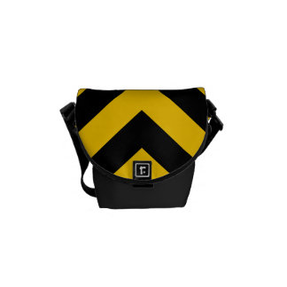 Yellow and Black Chevrons Commuter Bag