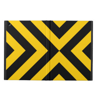 Yellow and Black Chevrons Cover For iPad Air
