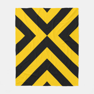 Yellow and Black Chevrons Fleece Blanket