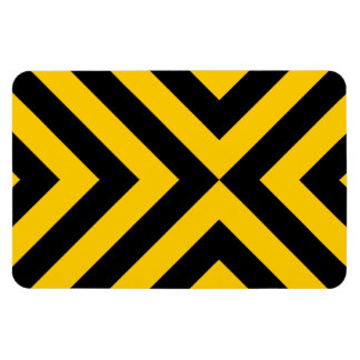 Yellow and Black Chevrons Flexible Magnet