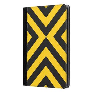 Yellow and Black Chevrons Geometric Pattern iPad Air Case