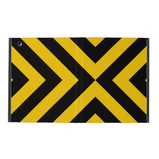 Yellow and Black Chevrons iPad Folio Case