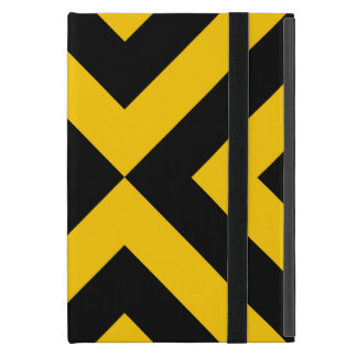 Yellow and Black Chevrons iPad Mini Covers