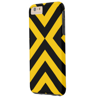 Yellow and Black Chevrons iPhone 6 Plus Tough Case