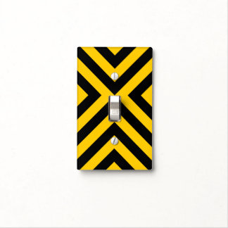 Yellow and Black Chevrons Light Switch Covers