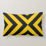 Yellow and Black Chevrons Pillow
