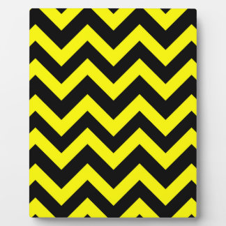 Yellow And Black Chevrons Plaque