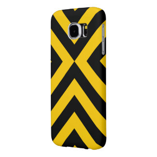 Yellow and Black Chevrons Samsung Galaxy S6 Case